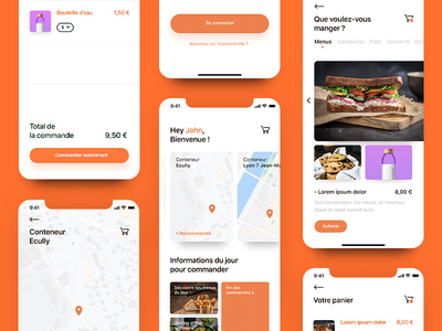 Keepeat - Food app ios iphone interface food adobe xd uidesign ux ui application app