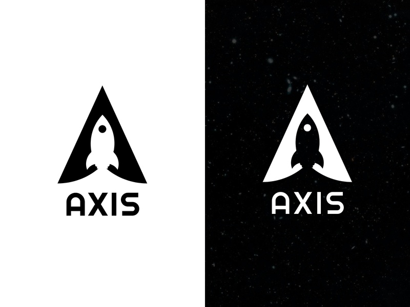 Axis Logo | #dailylogochallenge 1 illustration adobe xd rocket space rocketship logos logo axis
