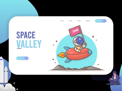 Space Valley - Landing Page