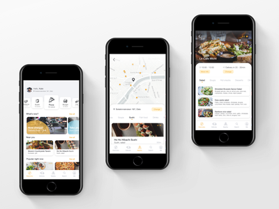 Food delivery app uxui delivery food and drink food app white minimalistic simple design