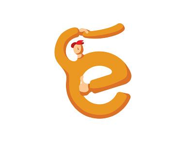 Letter vector typography letter illustration minimalistic simple design