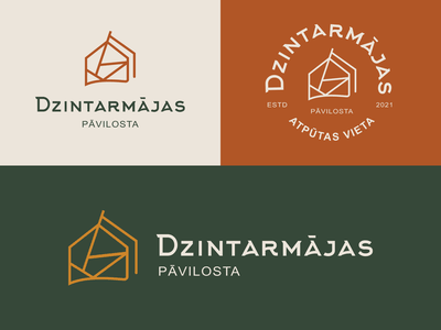 Campsite branding graphic design beach amber modern simple logo camping brown branding