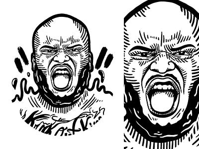 The Black Beast minimalistic ufc sport mma procreate black and white illustration graphic design