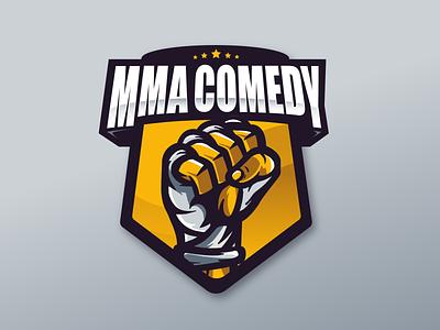 MMA LOGO badge stickers illustration sport mma logo branding graphic design