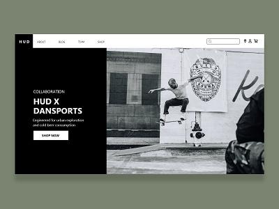 Skate Shop dark simple design simple web design