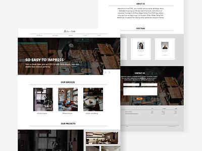 FUrniTURE landing page web simple website simple design online shop interior home furniture decor design