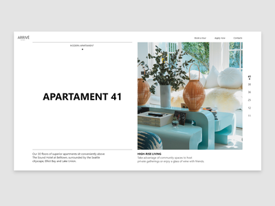 Typography Layout pastel color white minimalistic simple ui web typography design