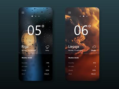 Weather app app design app simple design font ui minimalistic simple pictures dark weather app