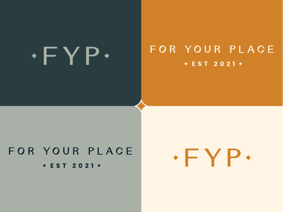 For Your Place Branding minimal typography design branding
