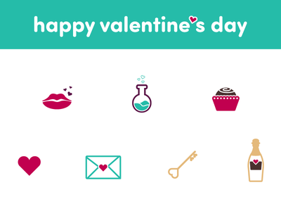 Valentine's Day Icon Set love heart icon set icons valentines day