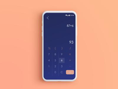 DailyUI004 Calculator