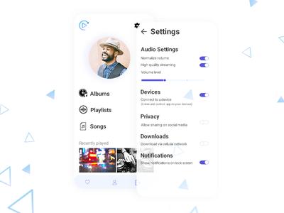 DailyUI 007 Settings settingsui mobile dailyui