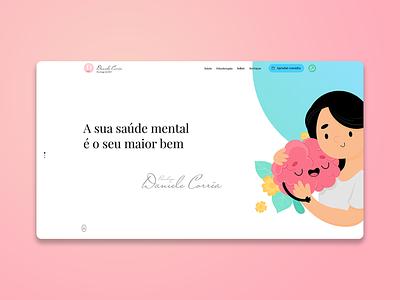 Daniele Correa Psychologist Website web website design website design ux ui