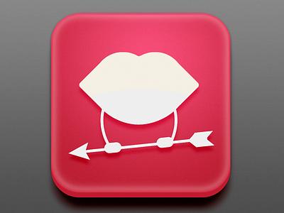 Ícone de aplicativo. KissyApp! design icondesign ios app