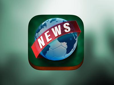 Soccer News! Ícone de aplicativo. ui illustration logo icon design design icondesign ios app branding app