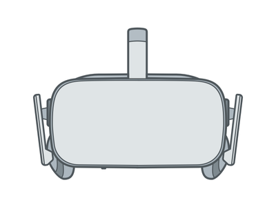 Oculus Rift VR Headset vector virtual reality illustration augmented reality vr ar oculus rift headset
