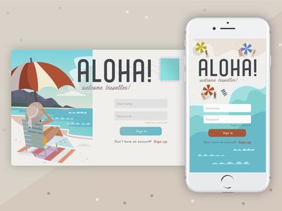Aloha! Login