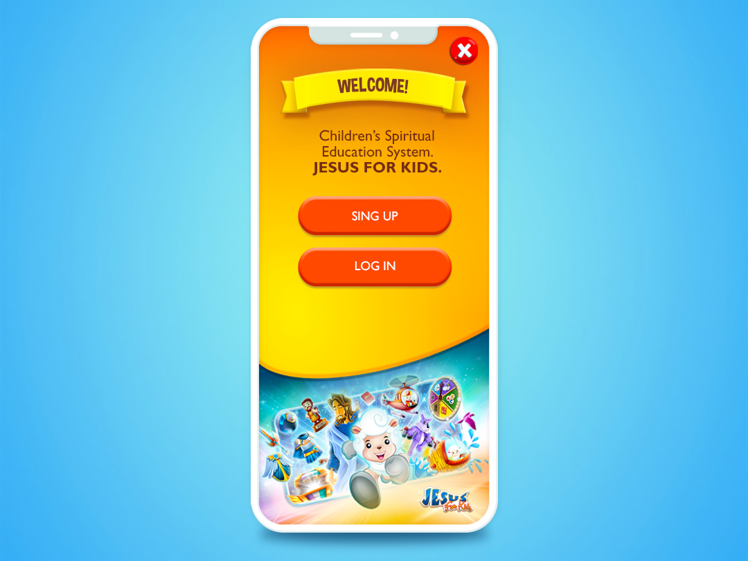 Welcome! art game sheep cute fun creative android app ios app ios android jesus christ jesus apple app design illustration