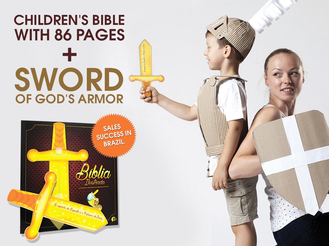 The Bible is our sword. bible design design graphic design art book sword biblical jesus christ jesus child children kid bible