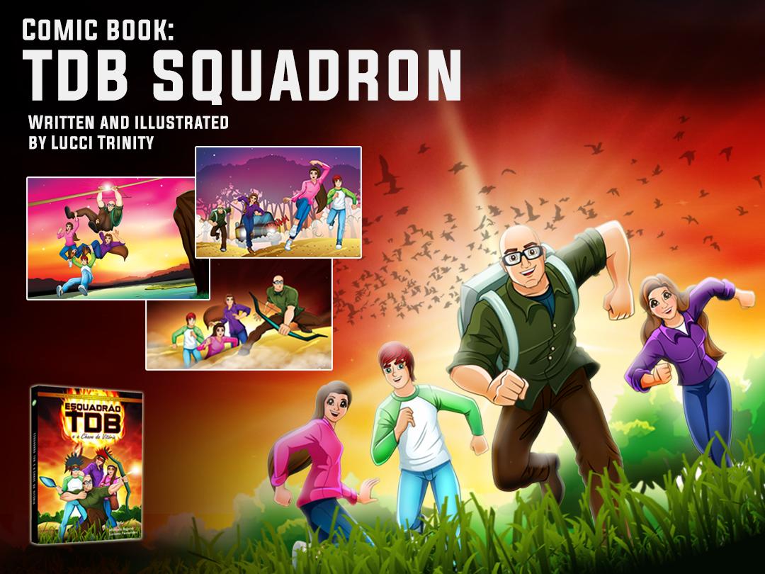 Comic book: T.D.B. Squadron creative story adventure jesus christ illustration art comic book comics
