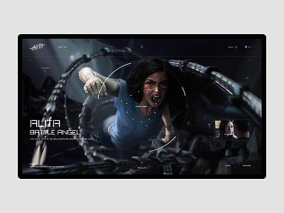 Alita: Battle Angel ui design the film intelligent web designer fuidesign interface