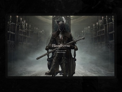 Bloodborne (血源诅咒) interface game web designer design