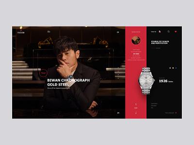 Tudor Watch # 帝陀手表 branding black red jaychou design ui web designer watch