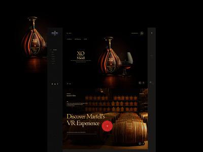 马爹利(Martell) grape wine branding design ui web designer liqueur xo