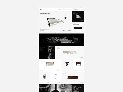 Christopher Guy / Website concept fashion concept ui design web designer
