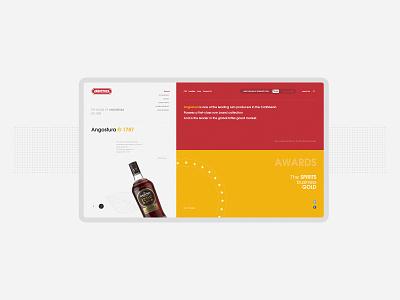 Angostura Rum # Web branding buy design ui web designer brand liqueur rum