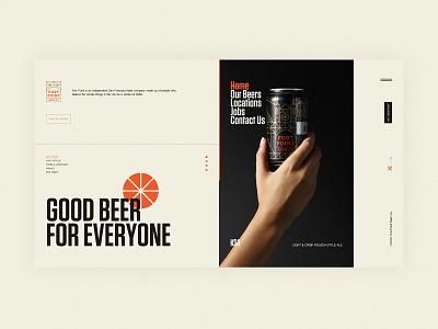 Fort point beer # 堡点啤酒 concept beer brand buy branding ui web designer design