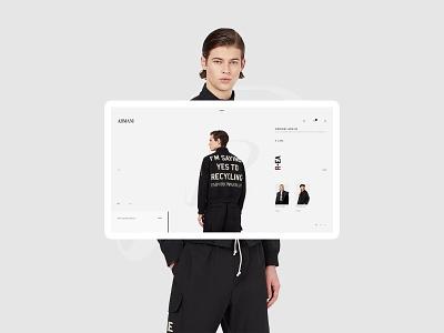 ARMANI game design fashion shopping user interface shoes store shoes e-commerce concept ui web designer design brand
