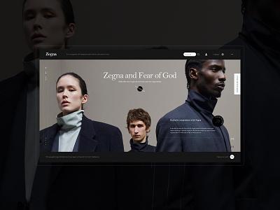 杰尼亚 (Zegna) buy shopping brand concept ui design web designer clothing label underwear clothing