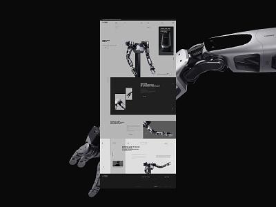 Naver Labs 2021© black intelligent robot brand concept ui web designer design