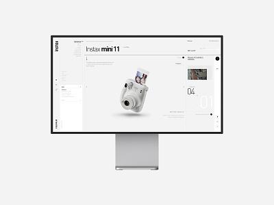Instax camera fashion shopping buy web designer camera brand concept ui design instax