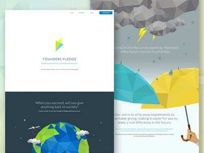 Founders Pledge Landing Page