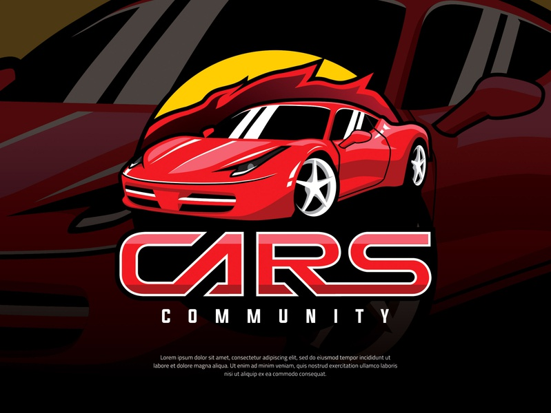 E-Sport Style Logo for Car Community motor race abstract element modern set graphic background creative fast symbol illustration speed sport icon design vector logo car game