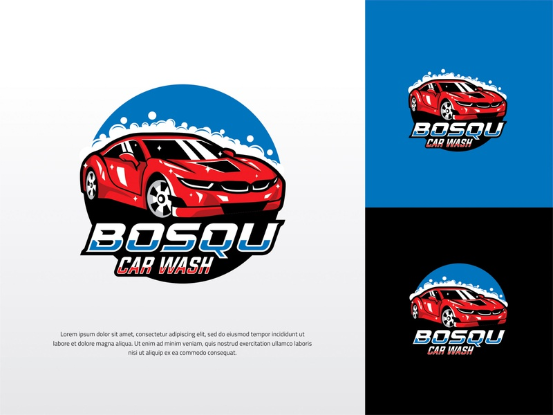 A CAR WASH LOGO WITH E-SPORT STYLE motor race abstract element modern set graphic background creative fast symbol illustration speed sport icon design vector logo car game