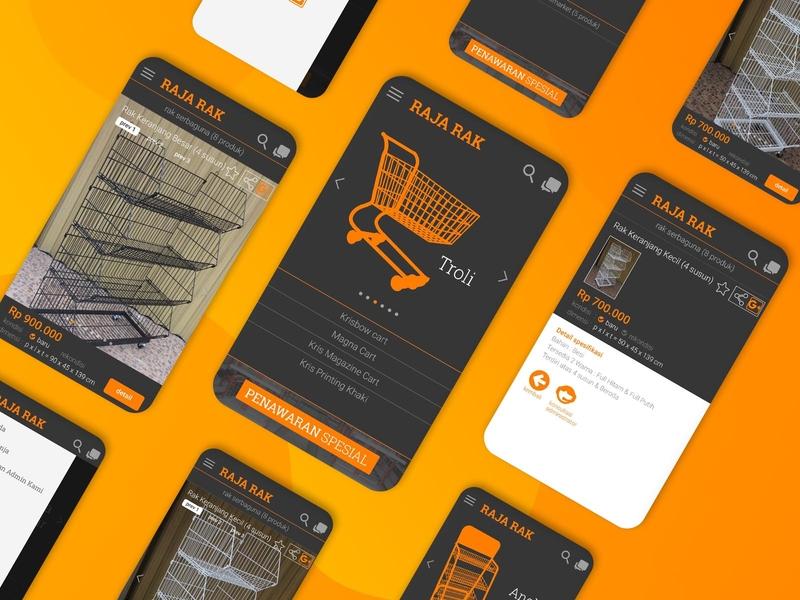 Raja Rak Shop UI/UX ui  ux classic flat app development market indonesia uiux designer rack shop online shop shop ui design uiuxdesign uiux
