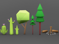 Biome Low-Poly Plants