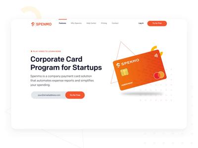Spenmo - Banner Animation after effects mvp fintech app 3d banking creditcard webdesign motion interface ux uiux clean design landing desktop website web ui animation