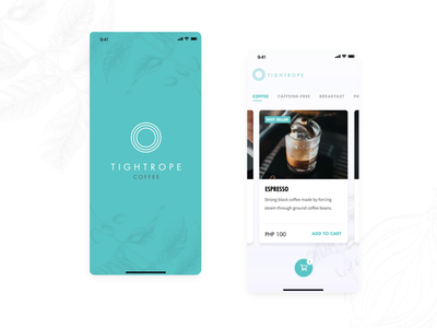 Tightrope Coffee - App Animation aftereffects coffee mvp startup mobile app mobile motion design motion design ui animation