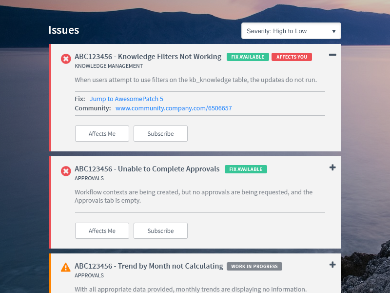 Issue Tracker ux ui kpi dashboard report problem resolution bugs tracker issue