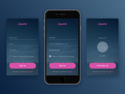 UI Challenge: 001 Simple Sign Up up sign ui daily