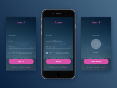 UI Challenge: 001 Simple Sign Up