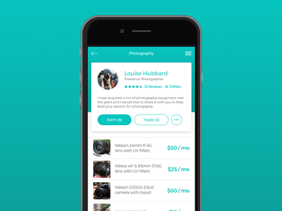 Daily UI_03 User Profile challenge ui daily