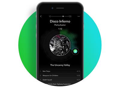 Daily UI_Music Player challenge daily ui