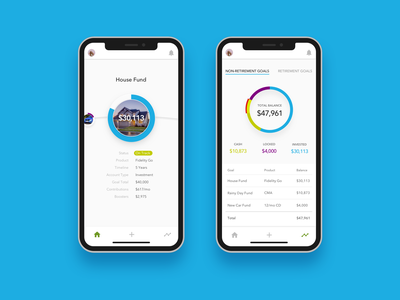 Invest Path Concept fintech finance app ui