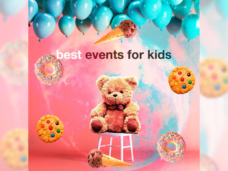 Kids event compilation instagram socialmedia top teddybear kids events design compilation collage