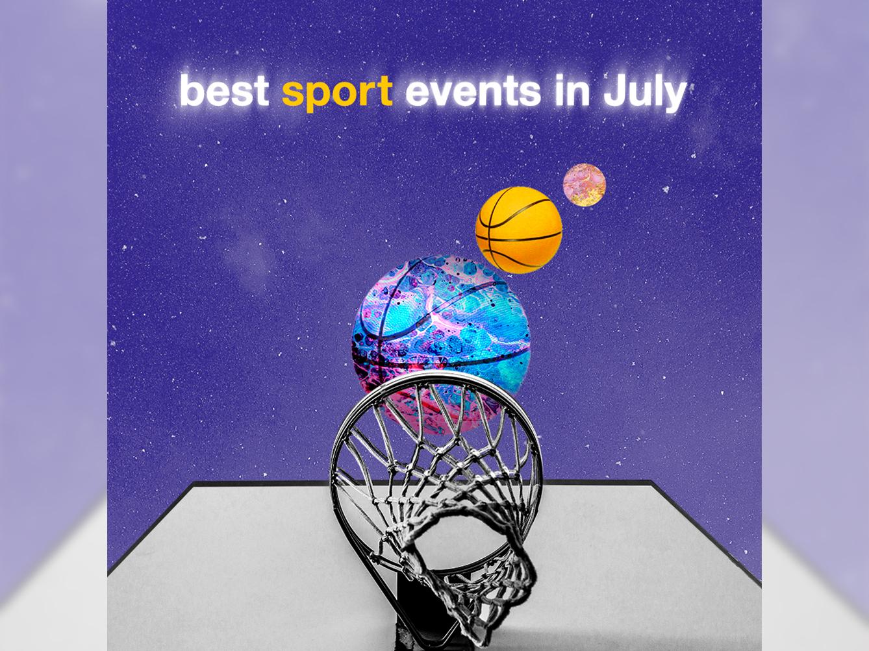 Sport event compilation socialmedia instagram collage blur basketball sport compilation art design